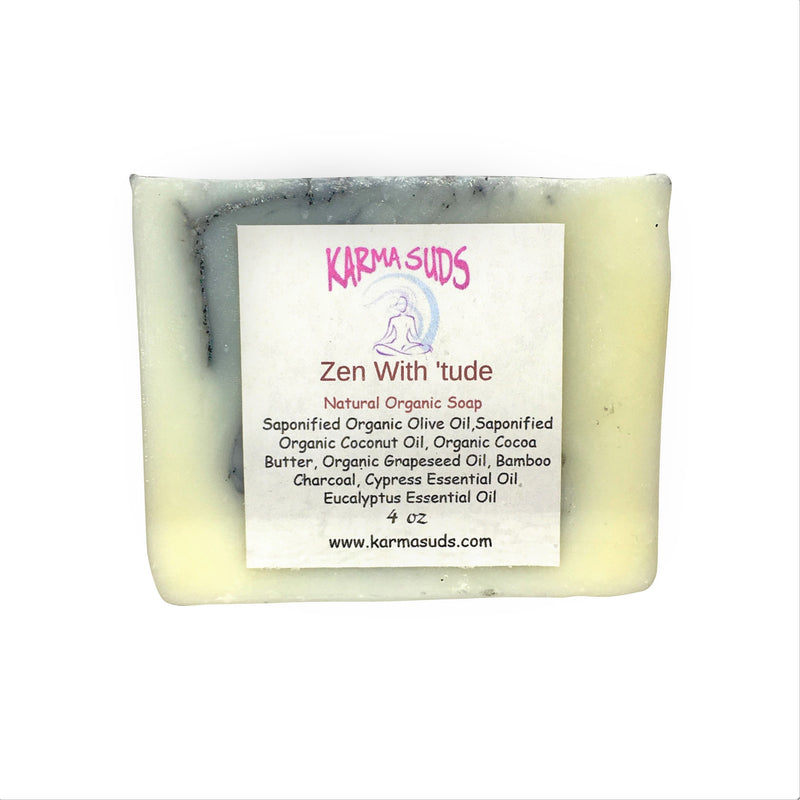 Zen with 'Tude - Natural Organic Bar Soap - 4 oz,Soap - Karma Suds