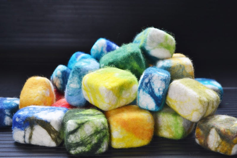 Felting Soap with Zed