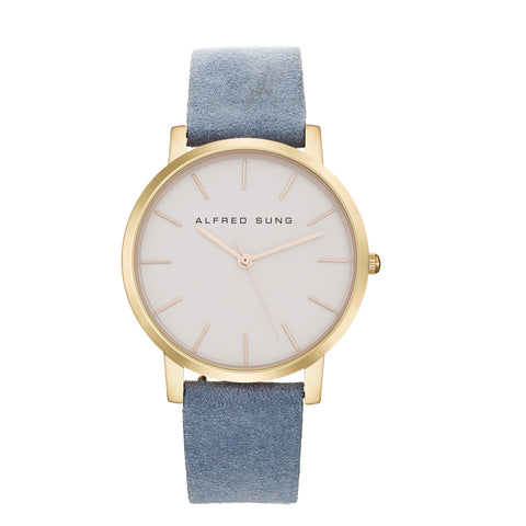 Alfred Sung Ultra Slim Ladies Watch
