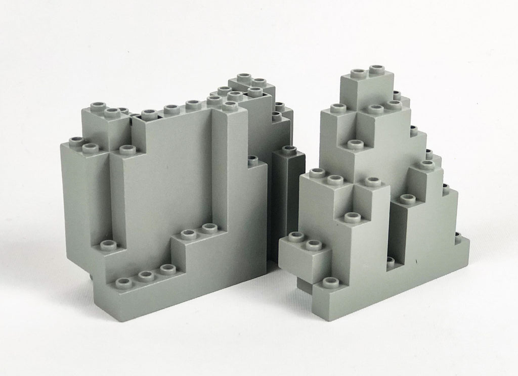 Rock/Mountain Parts Pack: Light Gray