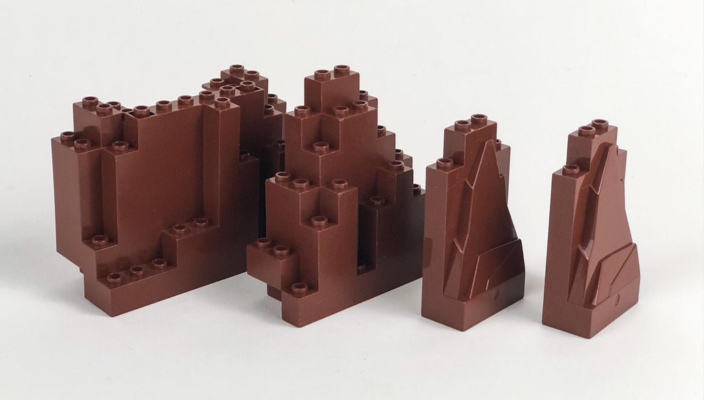 Rock/Mountain Parts Pack: Reddish Brown