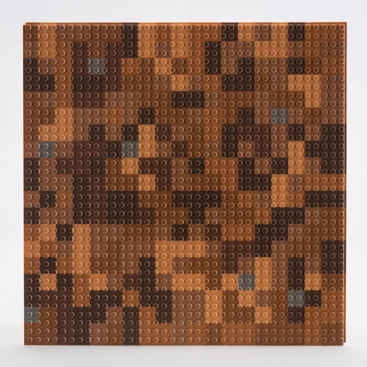 "Custom Brown Miner Mosaic Baseplate (12"" x 12"")"