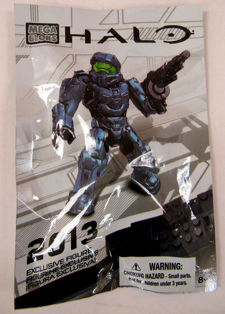 Halo Mega Blocks Blue Spartan Minifigure 2013 SDCC Exclusive