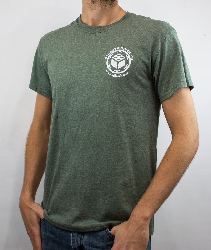 T-shirt Military Green, ABC Logo Back