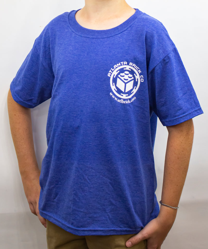 T-shirt Heather Royal Blue, ABC Logo Back