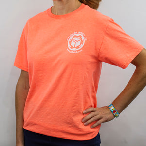 T-shirt Coral Silk, ABC Logo Back