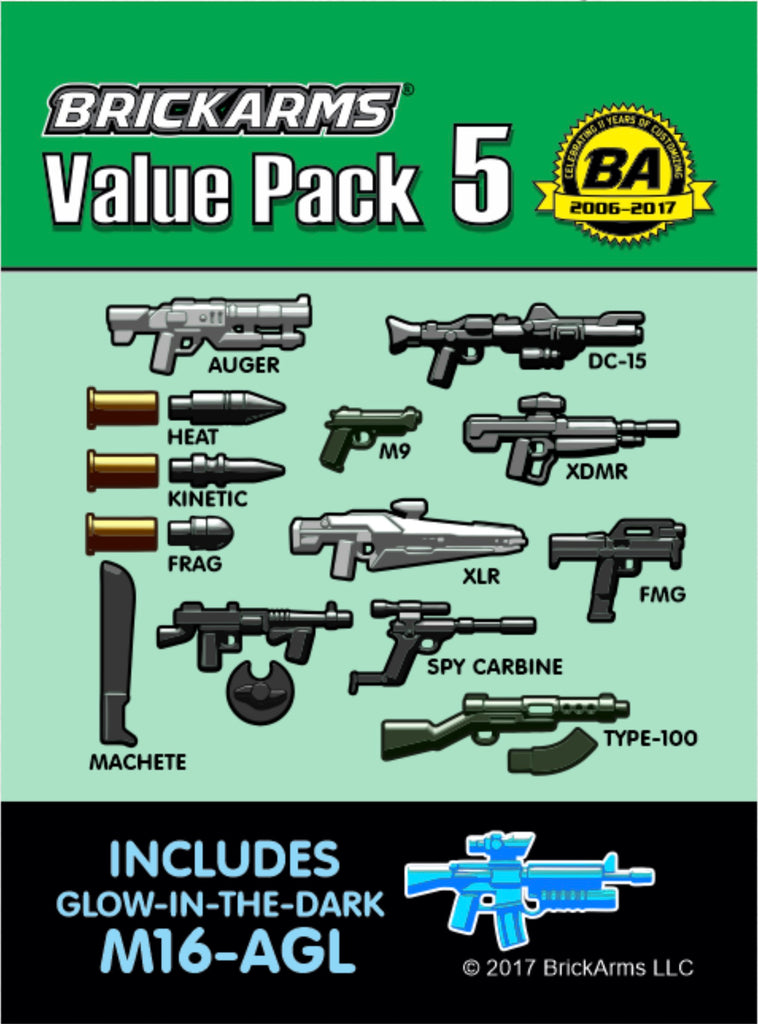 BRICKARMS VALUE PACK 5