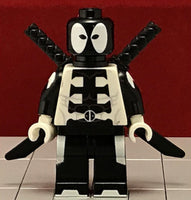 DEADPOOL Black Custom Printed & inspired Marvel Lego Minifigure.