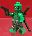 Deadpool Green Outfit Marvel Custom Printed Minifigure