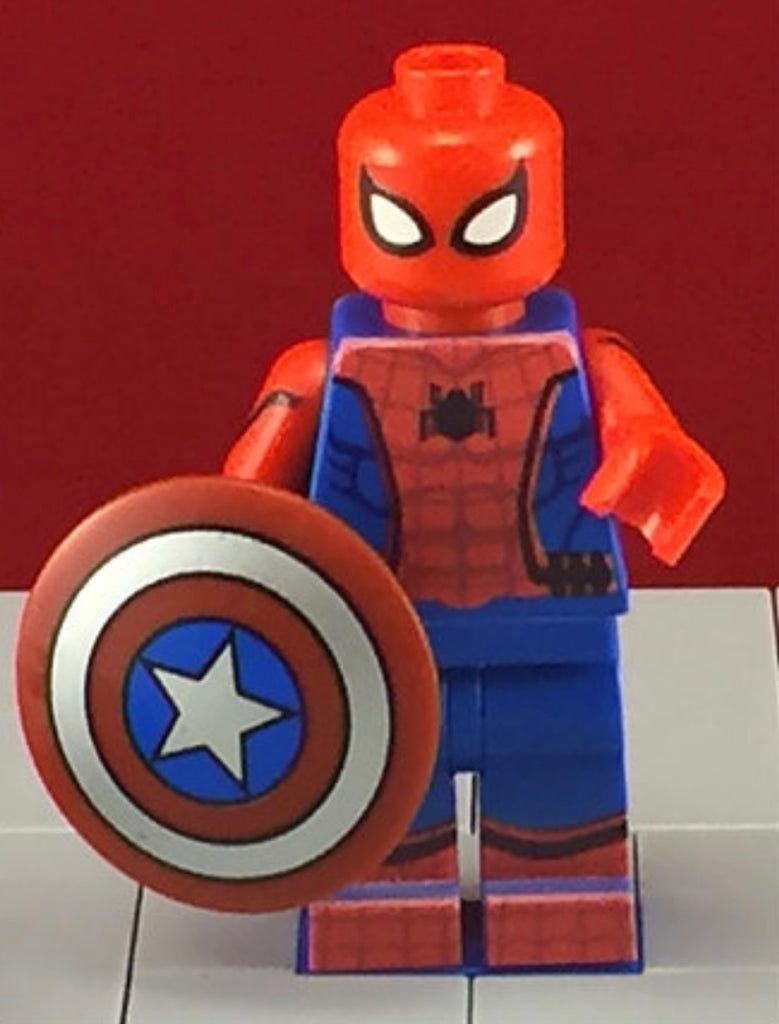 Spiderman Avengers Civil War Marvel Custom Printed Minifigure