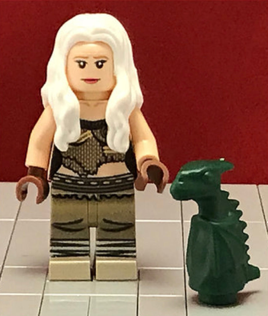 DAENERYS TARGARYEN Custom Printed & Inspired Game of Thrones Lego Minifigure