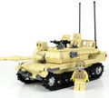 Battle Brick Tan M1 Abrams Main Battle Tank Custom Set