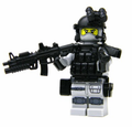 Battle Brick Gray Army Special Forces Heavy Assault Commando Custom Minifigure