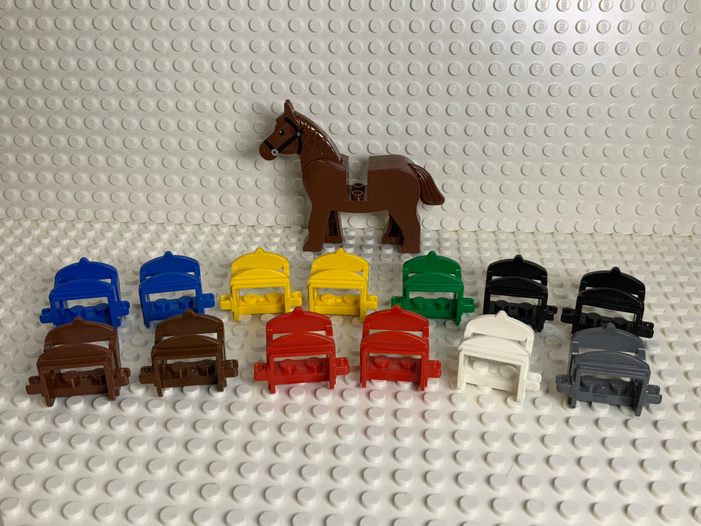 Reddish Brown Lego(R) Horse w/ Black Bridle (Classic Version)