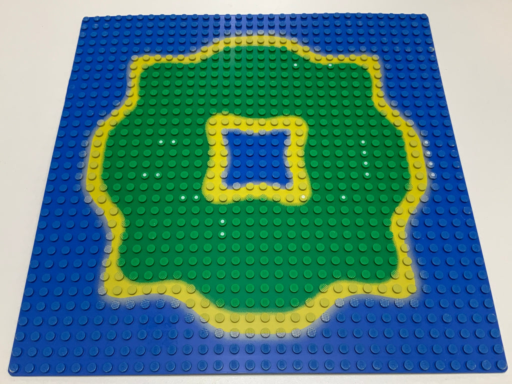 32x32 Lego(R) Road Baseplate 3811pb02 Light Gray Bottom