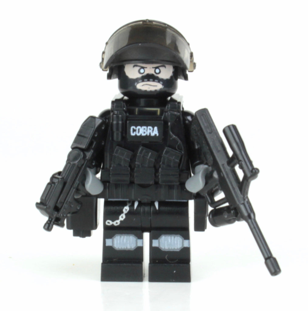 Battle Brick EKO COBRA Austrian Police Tactical Officer Custom Minifigure