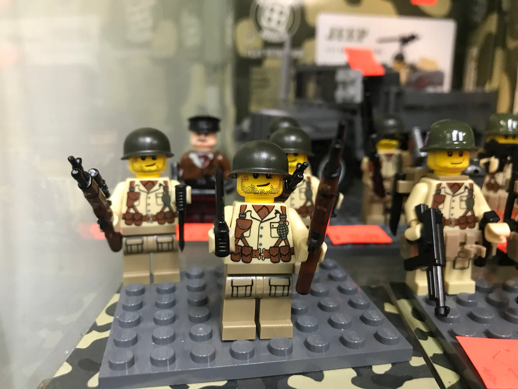 Battle Brick US WWII Soldier Custom Minifigure