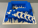32x32 Raised Baseplate W/ Ramp & Pit, Ice Pattern 2552px1 Lego (R)