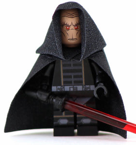 DARTH PLAGUEIS Custom Printed & Inspired Star Wars Lego Minifigure