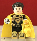 SUPERMAN Yellow Lantern DC Custom Printed Lego Minifigure