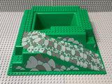 32x32 Raised Baseplate W/ Ramp & Pit, Gray/Gray Pattern 2552px6 Lego (R)