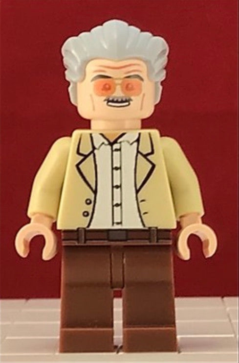 STAN LEE 2nd Gen Custom Printed Marvel Lego Minifigure!