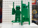 Green Army Man toy002 (w/ stretcher, backpack, stand, walky-talky)