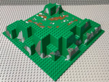 32x32 Raised Baseplate Canyon w/ Brown Dirt and Gray Rocks Pattern 6024px4 Lego (R)