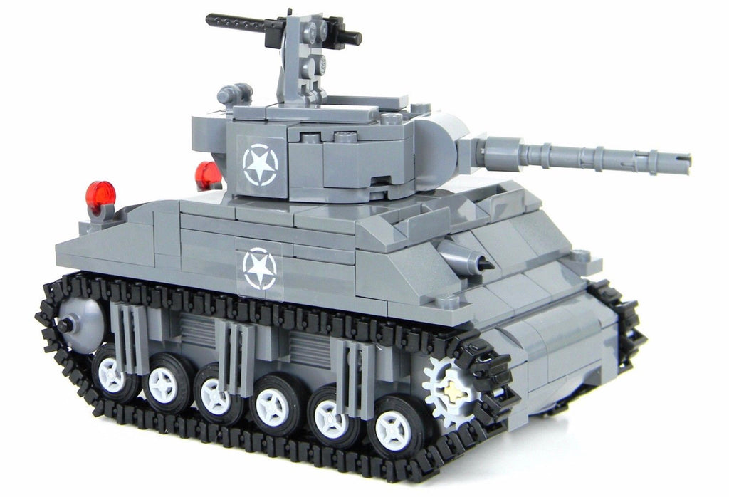 Battle Brick Sherman Tank