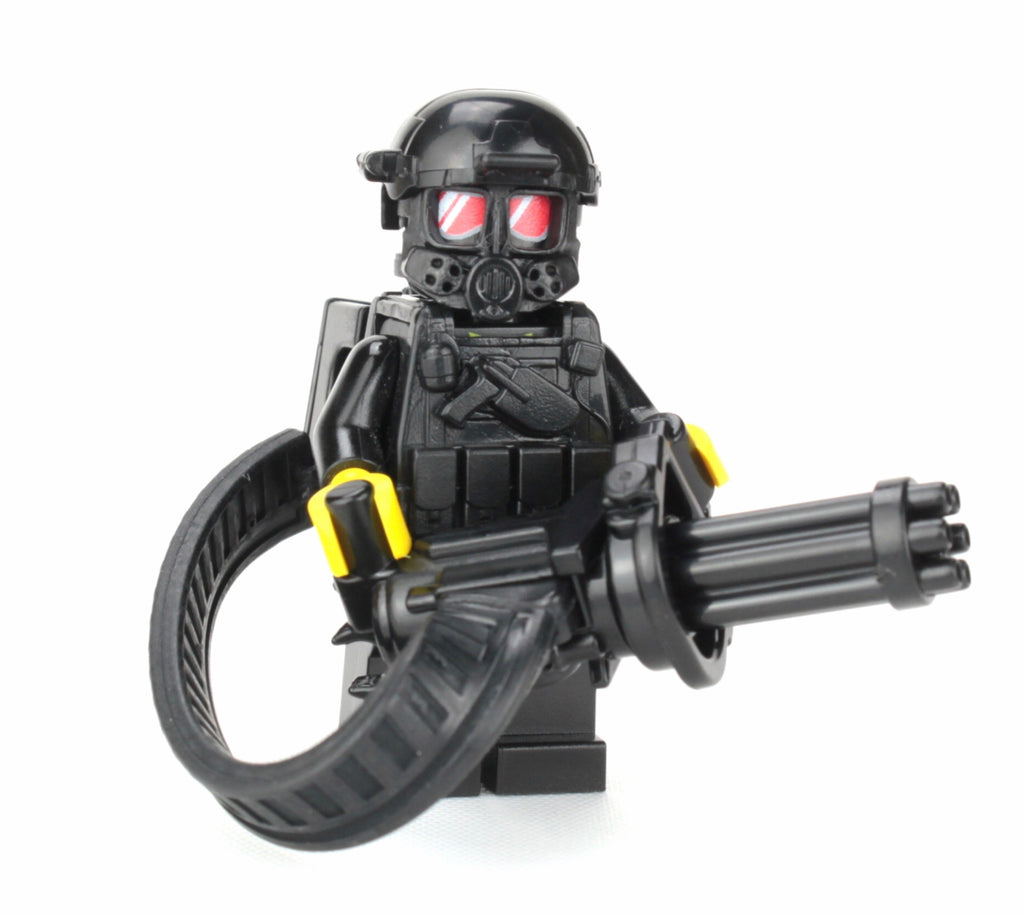 Battle Brick Heavy Gunner Custom Minifigure