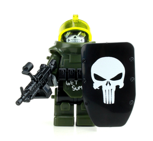 Battle Brick Custom Juggernaut Army Assault Minifigure