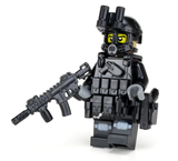 Battle Brick SWAT Police Officer Assaulter Custom Minifigure