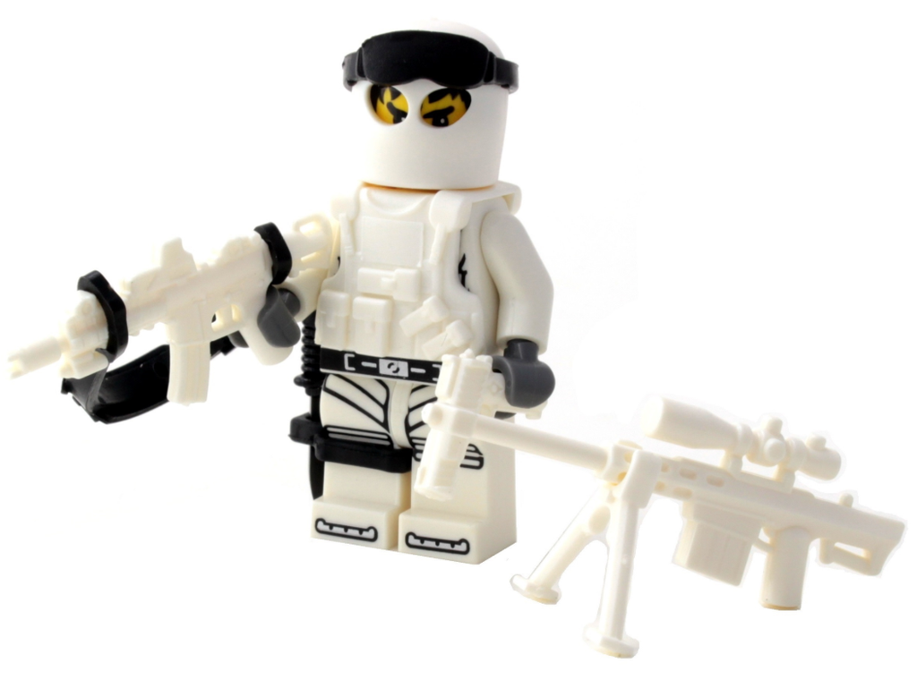 Battle Brick Winter Army Commando Custom Minifigure
