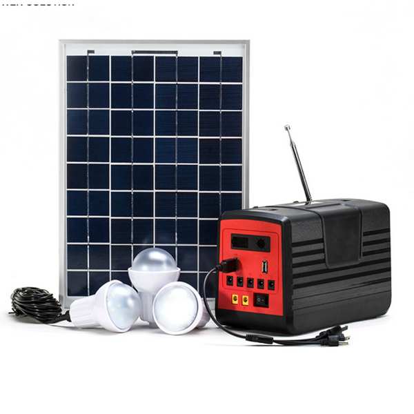 Solar Home Lighting +FM Radio, Mp3 player