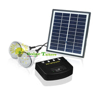 Solar Home Lighting Kit 2 LED BULBS with phone charging