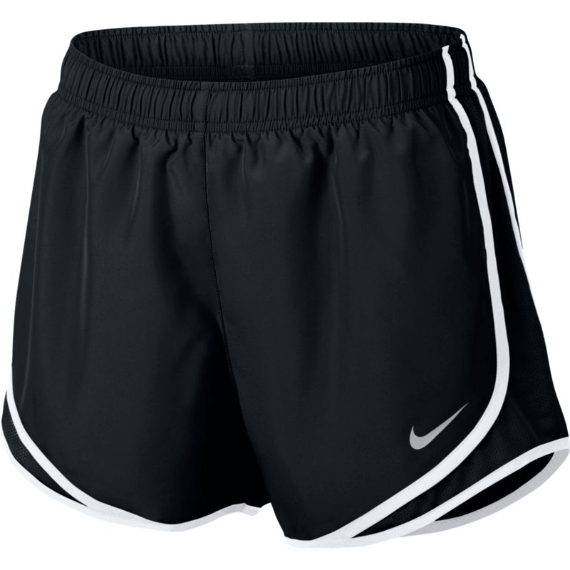 Women's Nike Tempo Running Shorts - Black/White/Wolf Grey