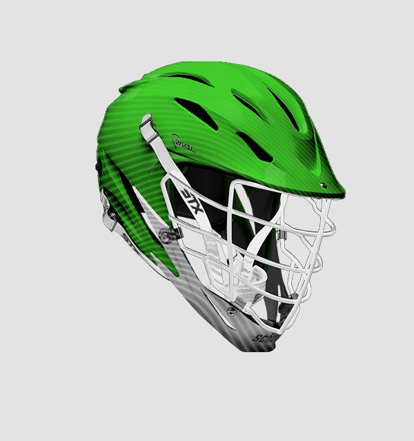 STX Rival Helmet - Customizable Aqua Tech Carbon Fiber