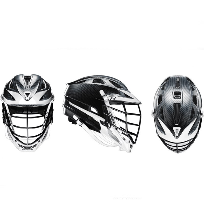 Cascade R Helmet Carbon Shell Black Mask - Customizable Custom Helmets