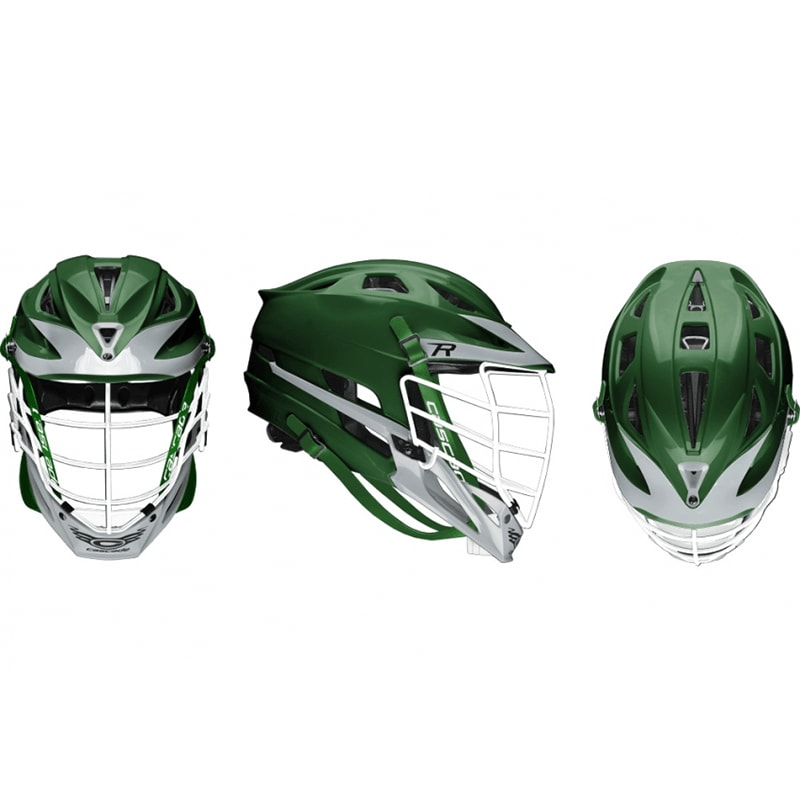 Cascade R Helmet White Pearl Mask - Customizable Custom Helmets