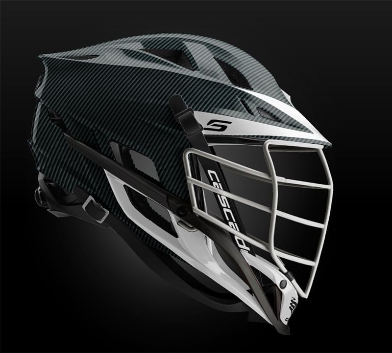Cascade S Helmet Carbon Fiber With White Pearl Mask - Customizable Custom Helmets