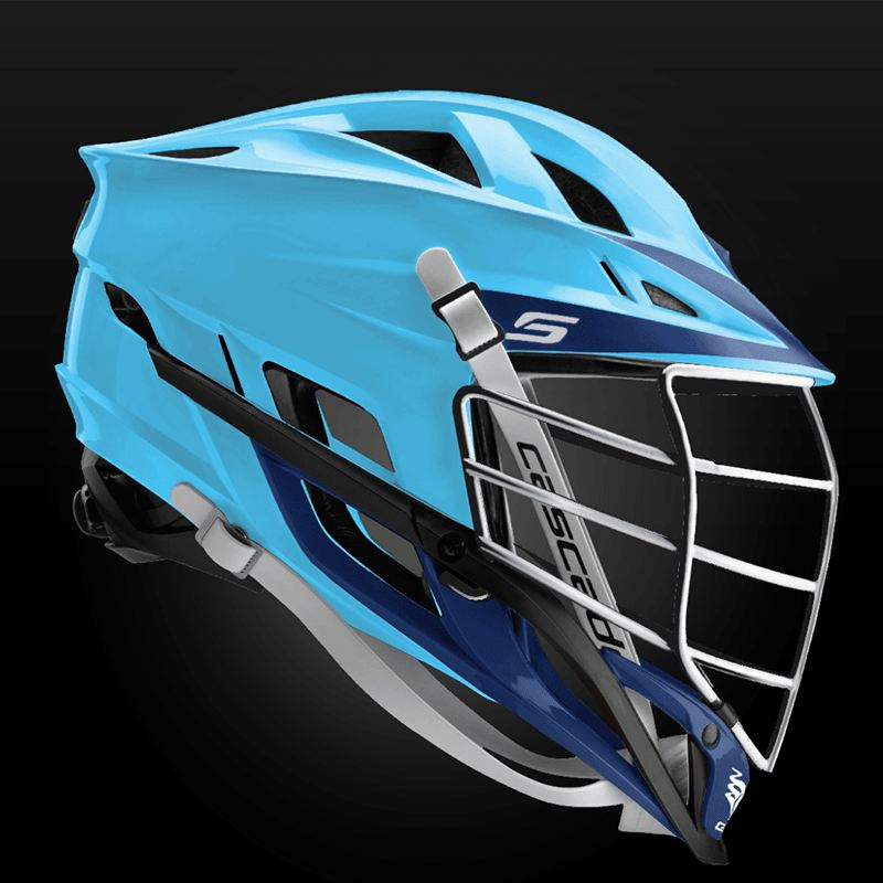 Cascade S Helmet Chrome Mask - Customizable Custom Helmets