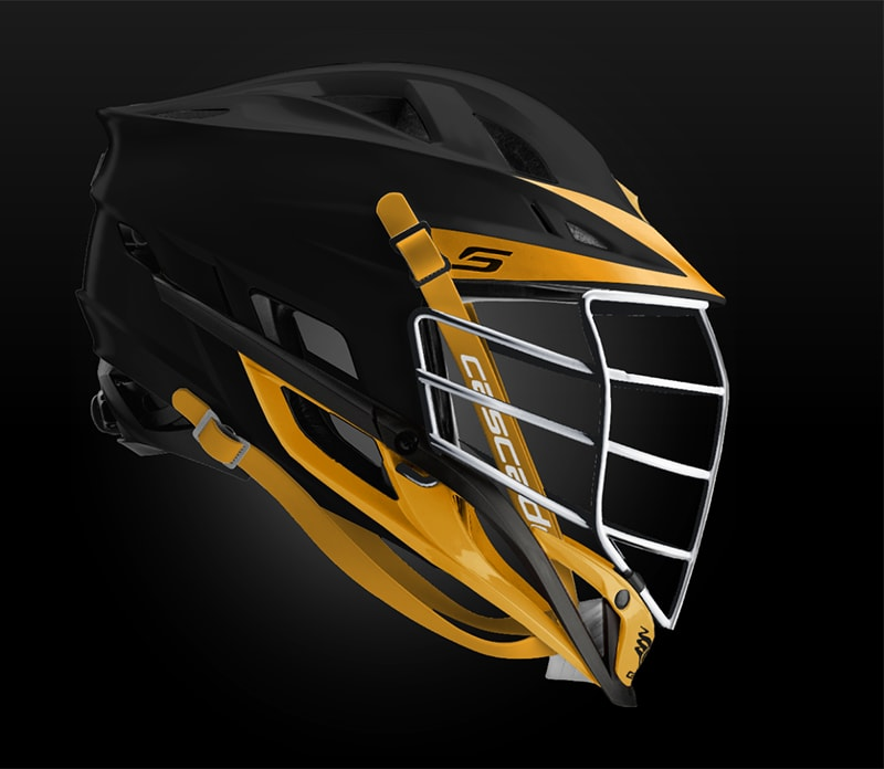 Cascade S Helmet Matte Black With  Chrome Mask - Customizable Custom Helmets