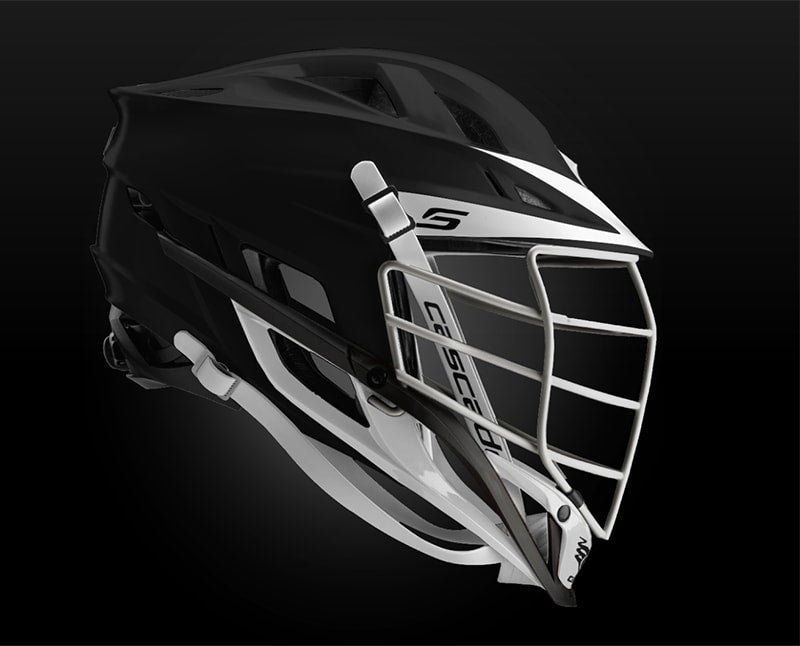 Cascade S Helmet Matte Black With White Pearl Mask - Customizable Custom Helmets