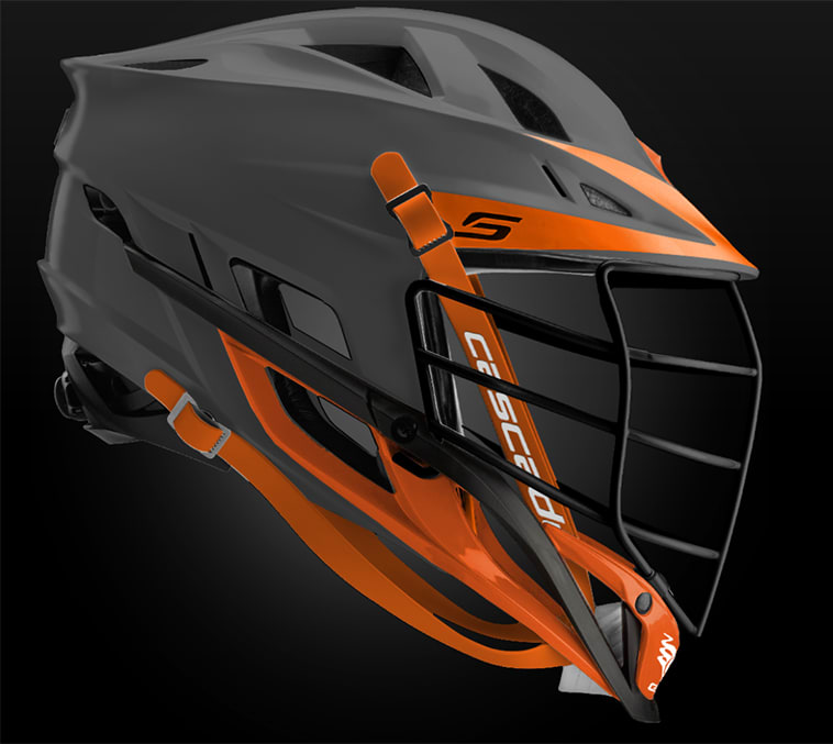 Cascade S Helmet Matte Grey With Black Mask - Customizable Custom Helmets