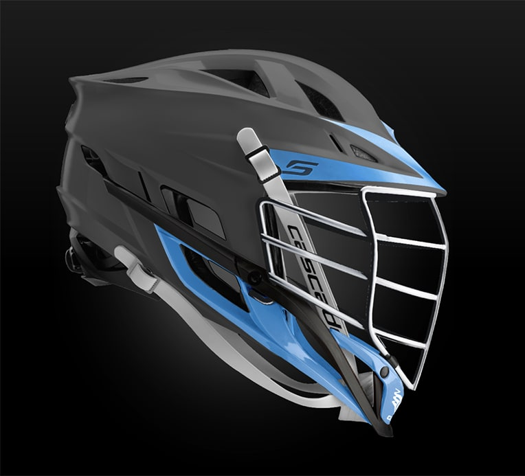 Cascade S Helmet Matte Grey With Chrome Mask - Customizable Custom Helmets