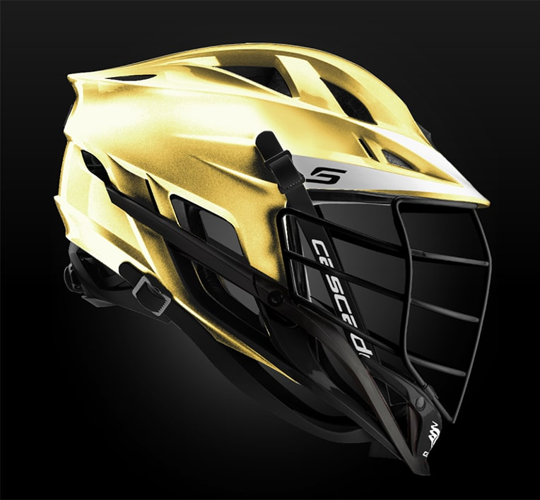 Cascade S Helmet Metallic Gold With Black Mask - Customizable Custom Helmets