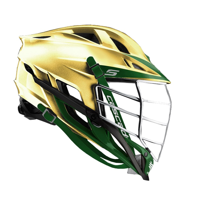 Cascade S Helmet Metallic Gold With Chrome Mask - Customizable Custom Helmets