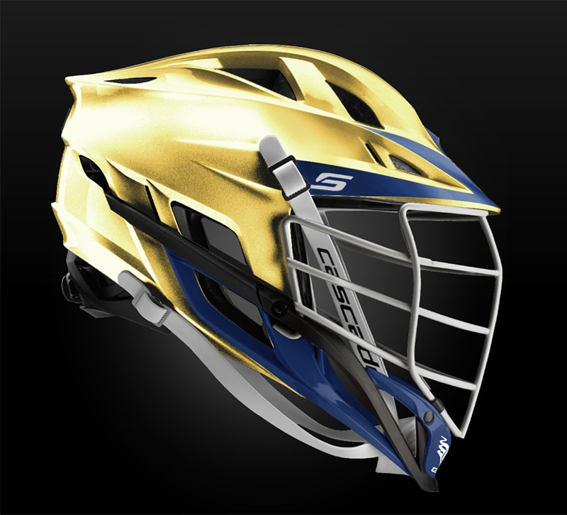 Cascade S Helmet Metallic Gold With White Pearl Mask - Customizable Custom Helmets