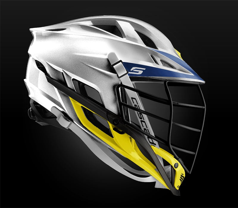 Cascade S Helmet Platinum With Black Mask - Customizable Custom Helmets