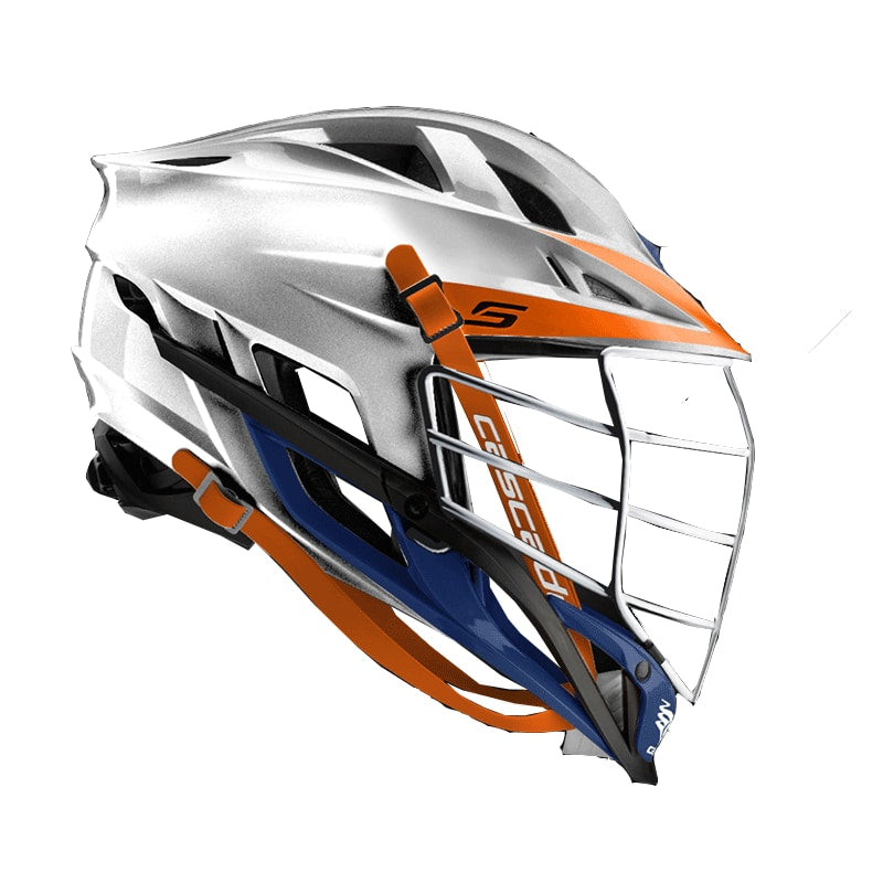 Cascade S Helmet Platinum With Chrome Mask - Customizable Custom Helmets